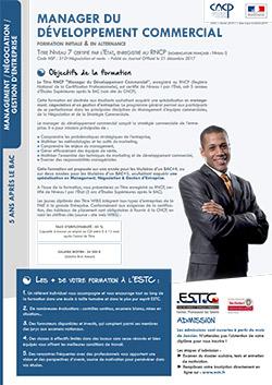 Mastère en Négociation, Management, et Gestion d'Entreprise